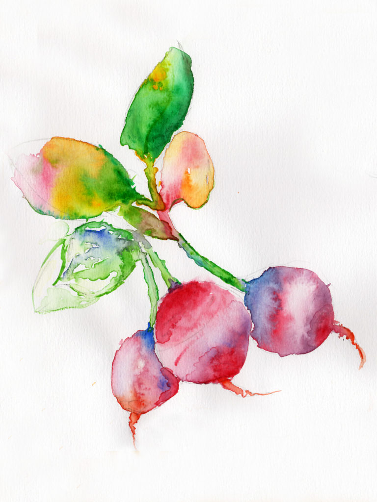 Beauty in Beats Aquarelle Painting