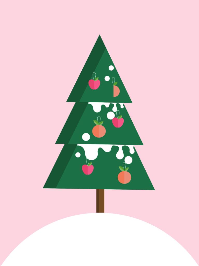 grafiskt julkort